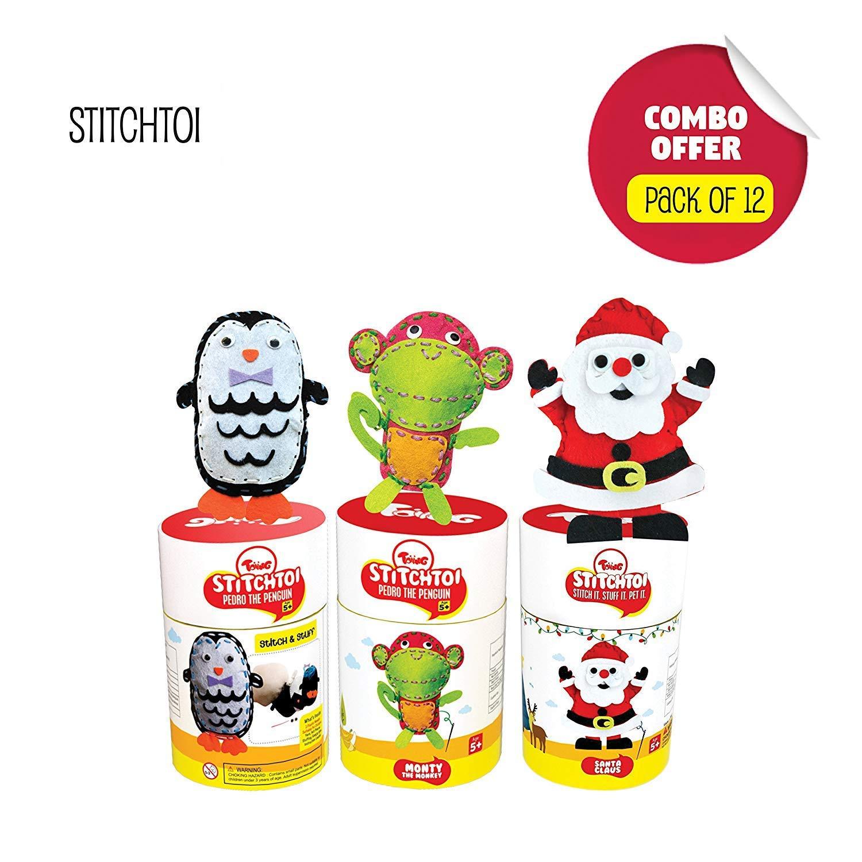 Toiing Stitchtoi Return Gift Combo Pack of 12: Penguin and Monkey, 6 Units Each (B07M6JWKJ1) Amazon Price History, Amazon Price Tracker