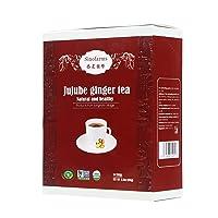 Sinofarms Organic Ginger Crystal Jujube Tea, Instant Herbal Tea, Support Healthy...