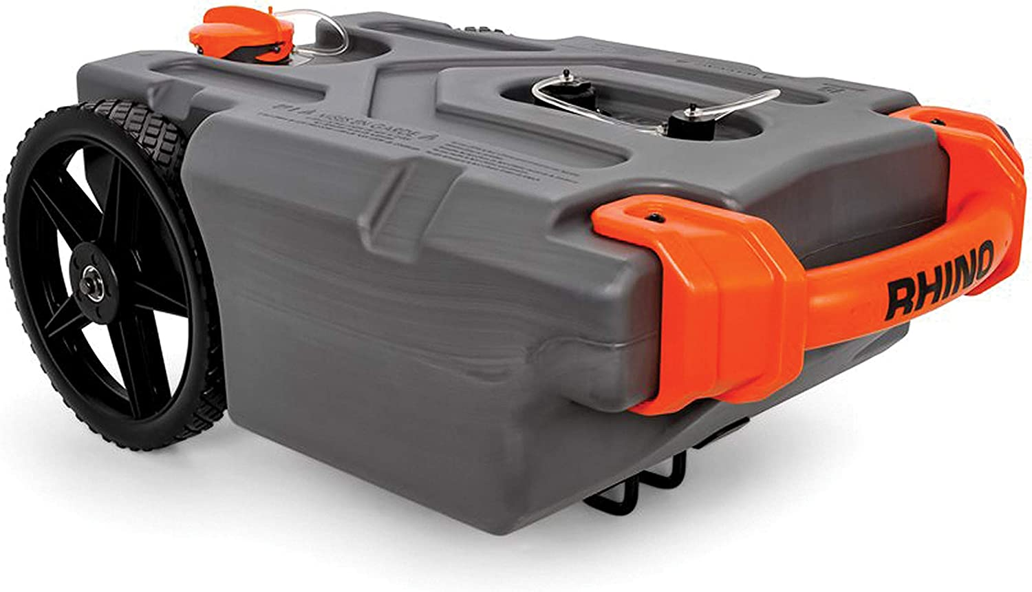 Amazon Com Camco 39000 Rhino Heavy Duty 15 Gallon Portable Rv Waste Holding Tank With Hose And Accessories Durable Leak Free And Odorless Rv Tote Tank Automotive