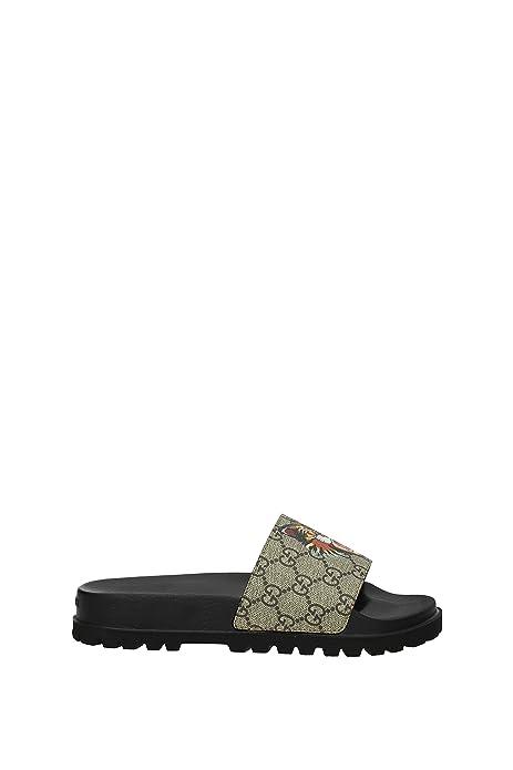 Zapatillas y Zuecos Gucci Hombre - Tejido (4742829A400) EU: Amazon.es: Zapatos y complementos