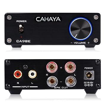 Amplificador Digital de Audio 32V CAHAYA, Mini Amplificador Estéreo para Altavoces y Equipos de Sonido con Adaptador de Corriente: Amazon.es: Instrumentos ...