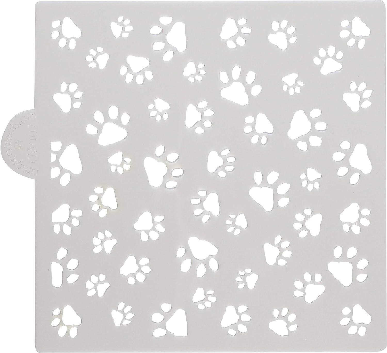 Mini Dog Paws Allover Cookie and Craft Stencil by Designer Stencils