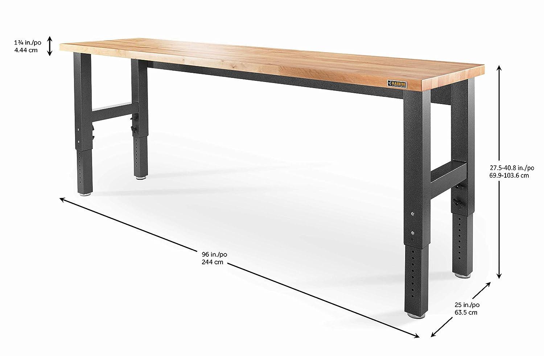 Remarkable Gladiator Gawb08Hweg Adjustable Hardwood Workbench 8 Short Links Chair Design For Home Short Linksinfo