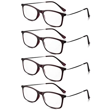 2c331bc96c1c Read Optics 4 Pack Mens Womens Vintage Reading Glasses  Retro Italian Style  +2.5