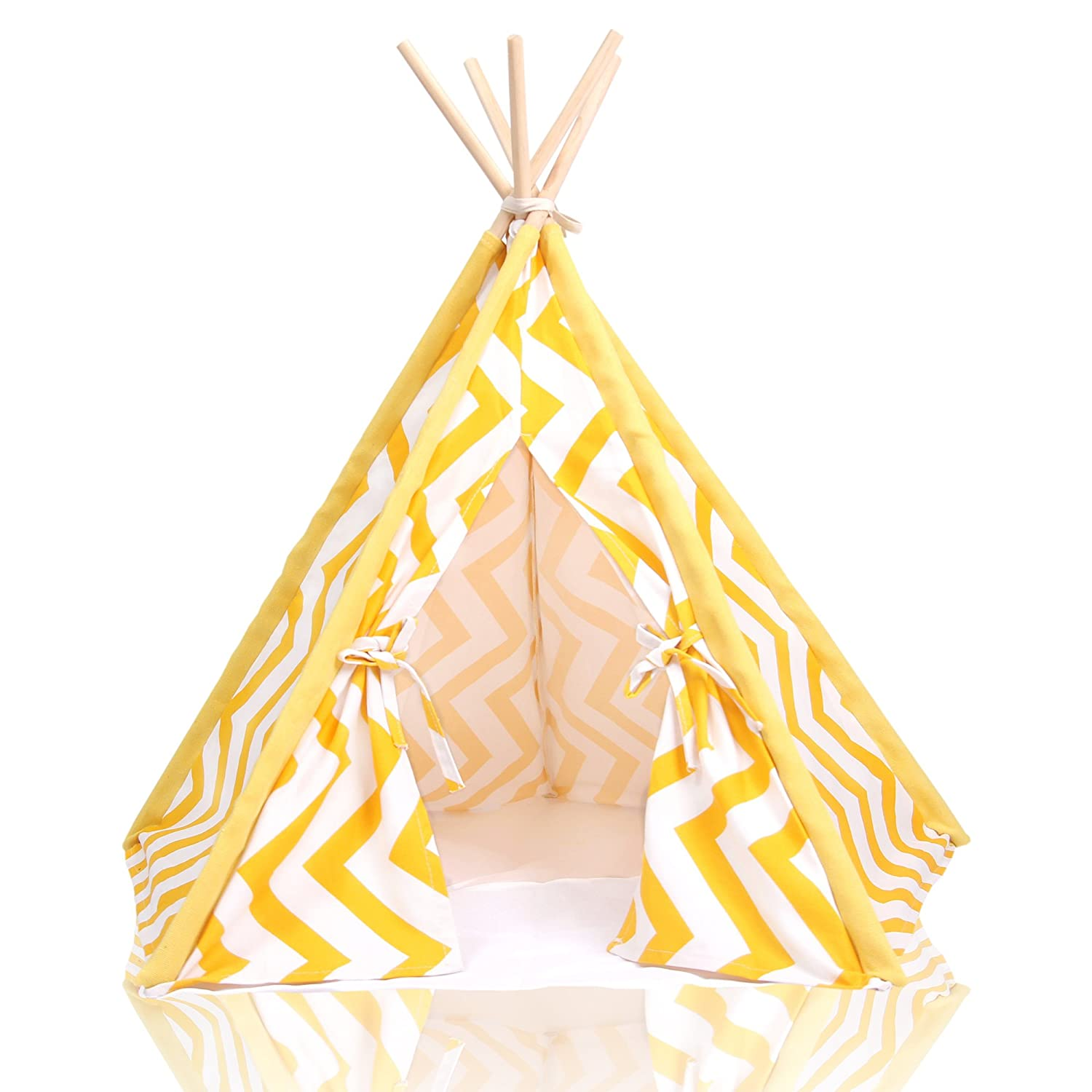 Yellow Stripe Pet Teepee
