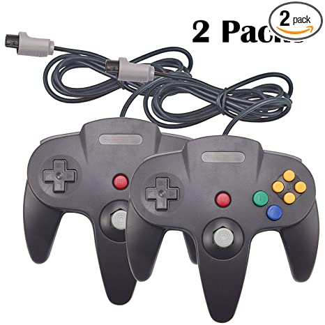 YB-OSANA 2 Packs Replacement Upgraded Joystick Classic Wired Controllers  for Nintendo 64 N64 64-bit Gamepad Joystick for Ultra 64 Video Game Console