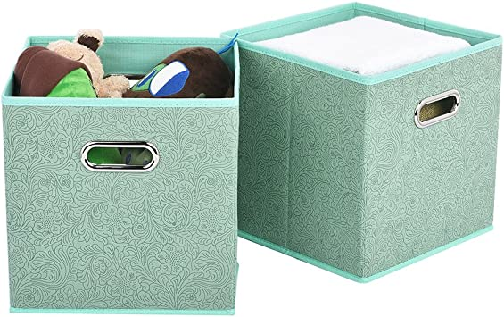 Cloth Storage Bins,Flodable Cubes Box Baskets Containers Organizer for
