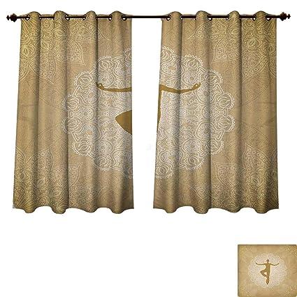 Amazon Com Pricetextile Yoga Blackout Curtains Panels For Bedroom