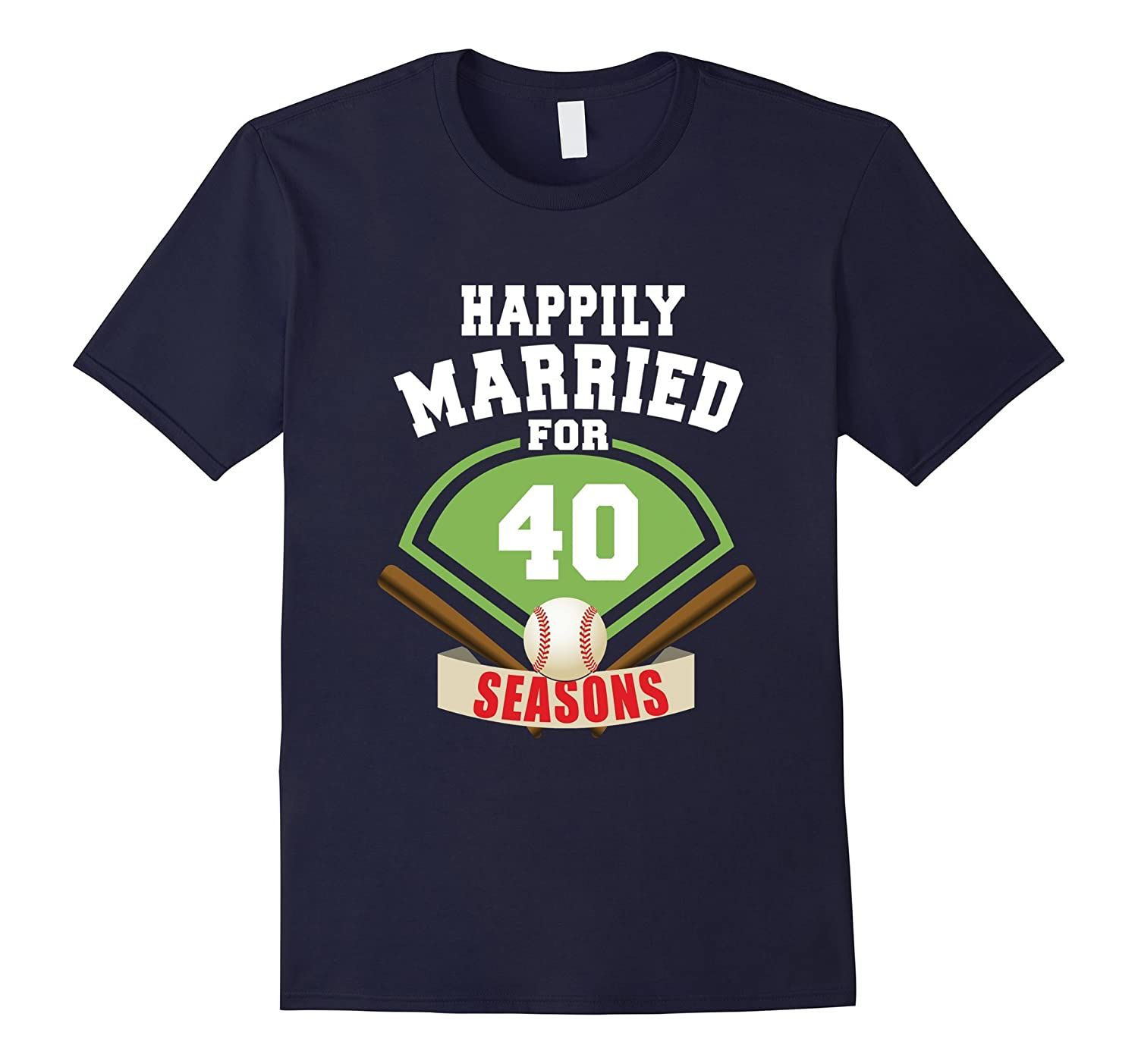 40th Wedding Anniversary T-Shirt Baseball Couple Gift Shirt-TH