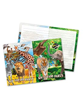 Folat Nuevo Tarjetas De Invitación Safari Party 8 Unidades