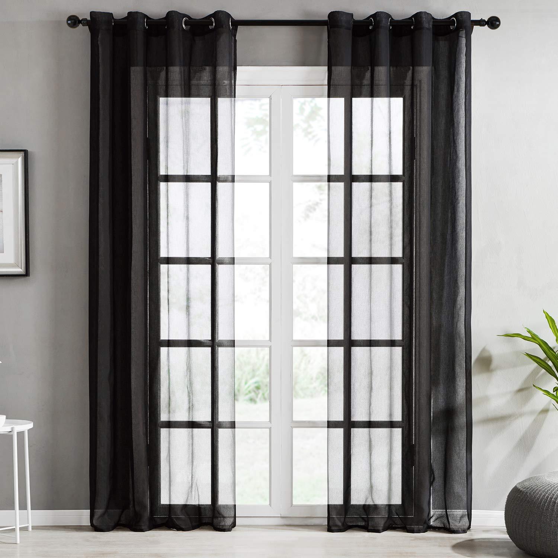 Modernas cortinas transparentes elaboradas con hilo de poliéster. Multiples medidas y diseños.