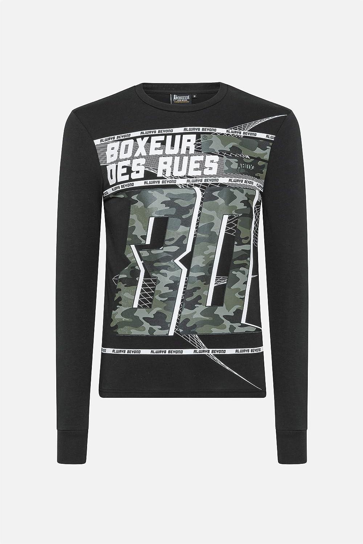 BOXEUR DES RUES Uomo T-Shirt Maniche Lunghe Stampa Camouflage