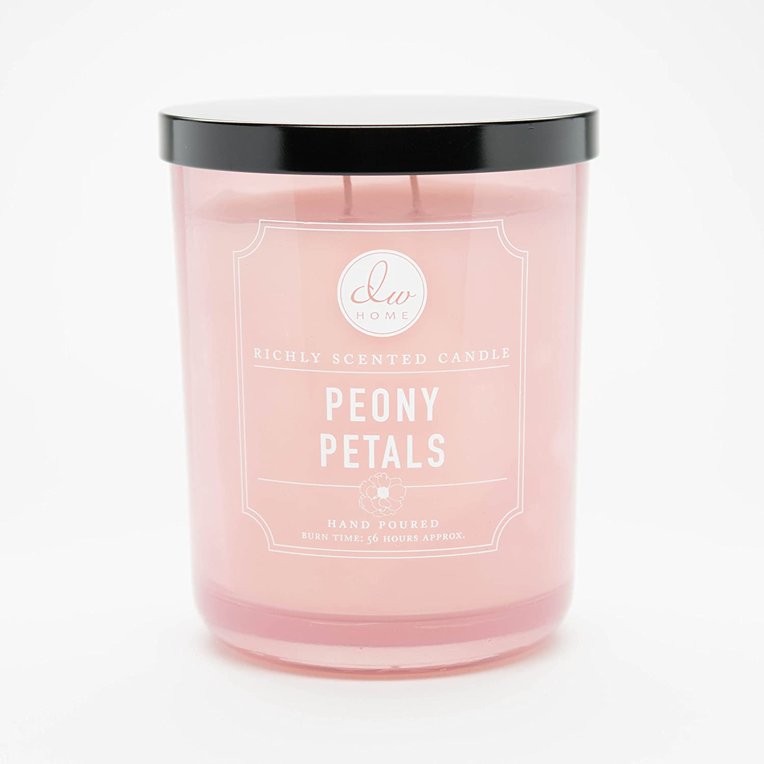 DW Home Large Double Wick Candle, Peony Petals
