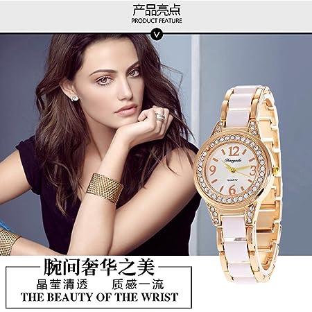 XKC-watches Relojes para Hombres, señoras Relojes Reloj de Diamantes imitación de cerámica Reloj de Estudiante de Corea (Color : 1): Amazon.es: Deportes y ...