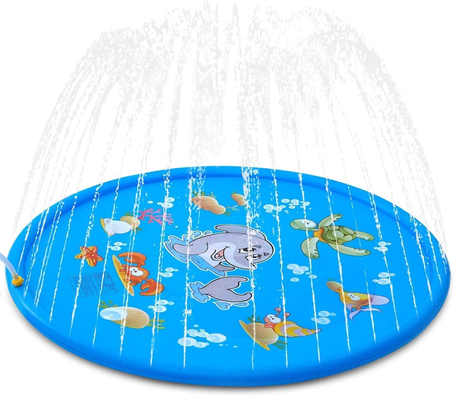 Azul 4 Pulchram Splash Pad Almohadilla de Aspersi/ón de 170 cm Water Play Mat Party Sprinkler Splash Pad Summer Spray Juguetes para Ni/ños y Mascotas Jard/ín al Aire Libre Actividades Familiares