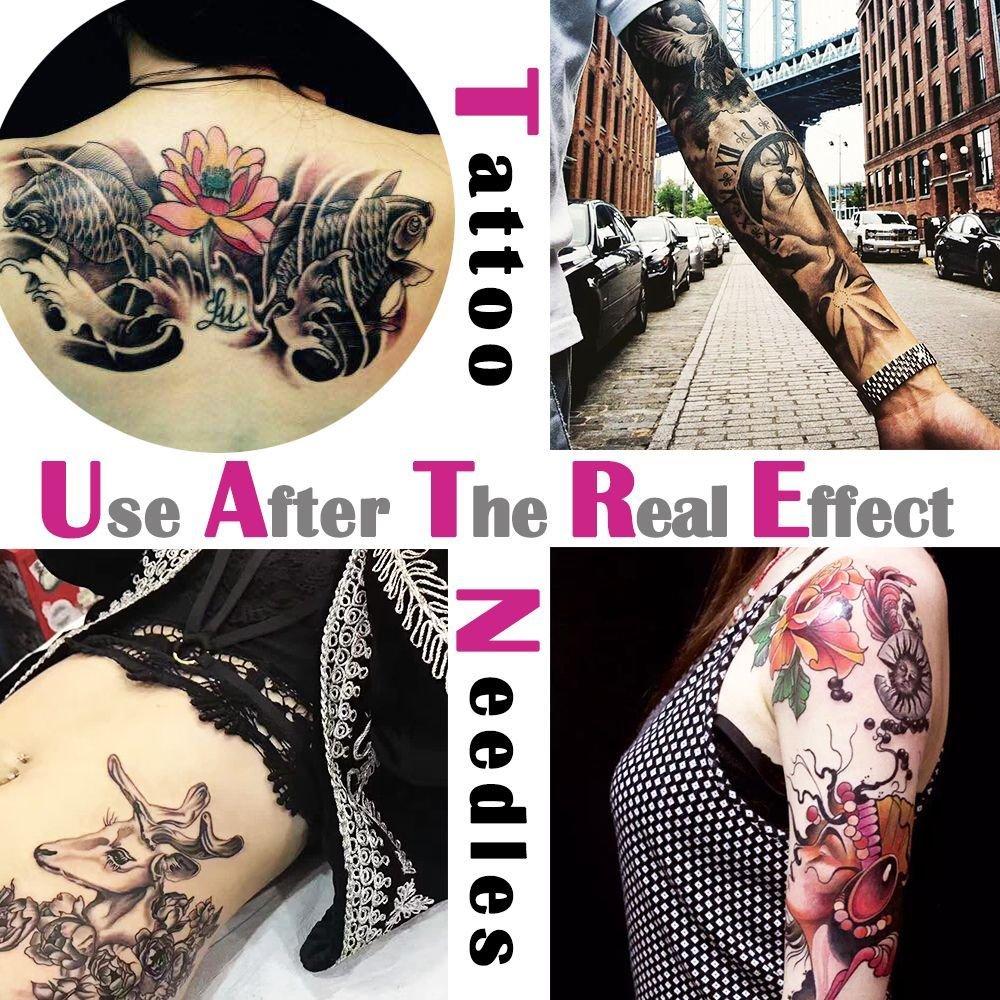 atomus 50/100 unidades 3RL Tattoo agujas + Aguja 3RT Tattoo Acero ...