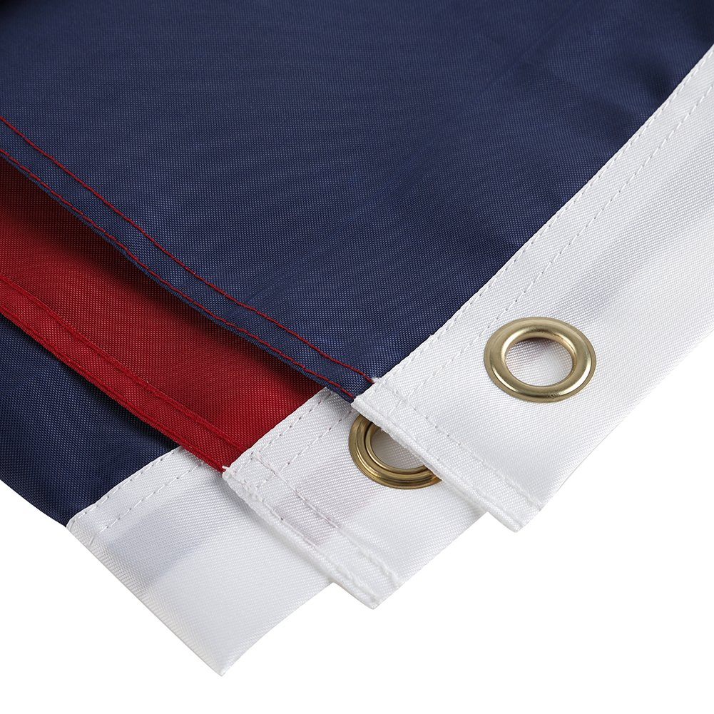 2 Pack - Nylon Sate & American Flag 3x5 Combo Pack - Embroidered Oxford 210D Nylon - Durable & Long Lasting – 4 Stich Hemming. Vivid & Fade Resistant. by Cascade Point (Texas + USA (2 Pack))