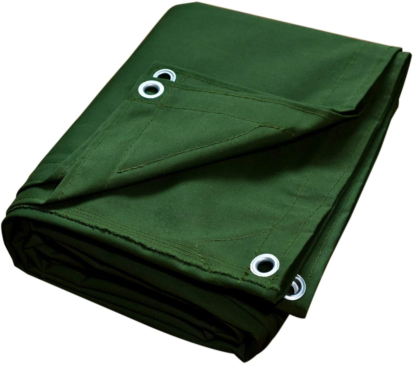 Canvas Tarps Truck Tarp Water Resistant UV Resistant 10 OZ Heavy Duty Tarpaulin Cover for Car Boat Camping Firewood Woodpile, 8x10 Feet