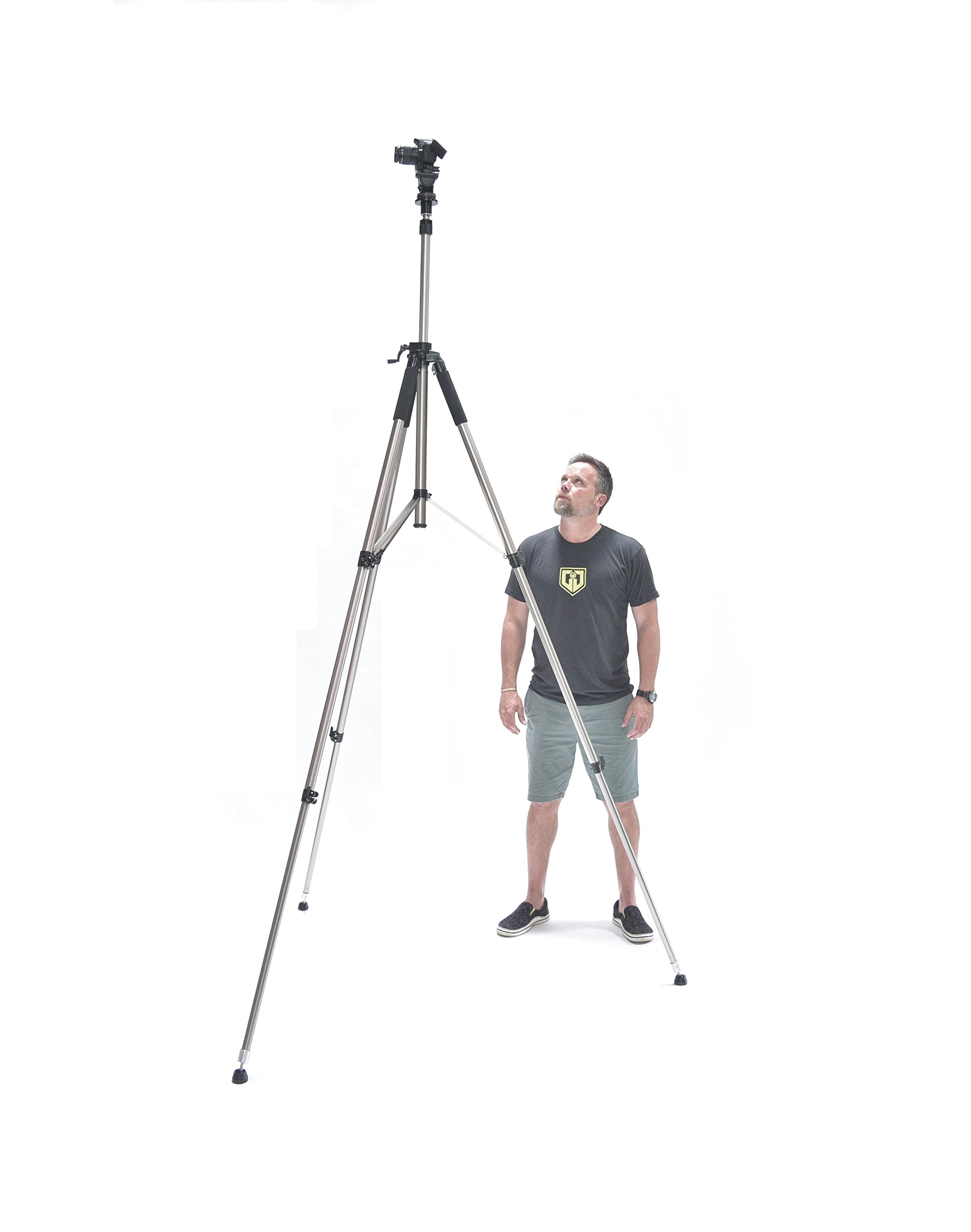 Glide Gear TST 100 Very Tall Sports Soccer Real Estate 120'' Video Camera Photography 10 FT Tripod Stand