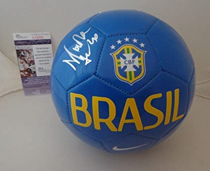 Image Unavailable. Image not available for. Color  Marta Vieira da Silva  signed Blue Brasil Soccer Ball ... 8bf3aa0ff
