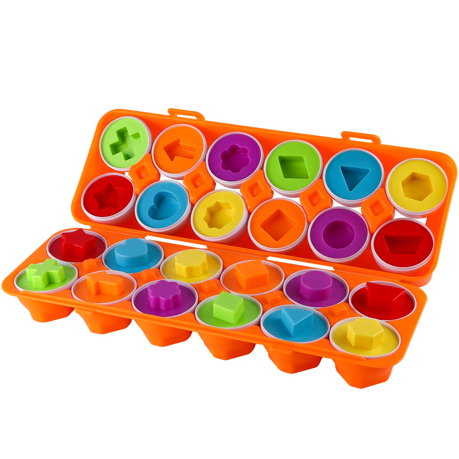 Educational Color Toddler Toys Shapes /& Sorting Recognition Skills Bestwin Color Shapes Matching Egg Set Girls Sorting Puzzle for Boys