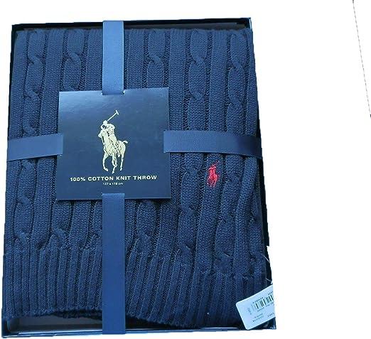 Ralph Lauren Polo Home Cable Manta Azul Marino Caja de Regalo jk75 ...