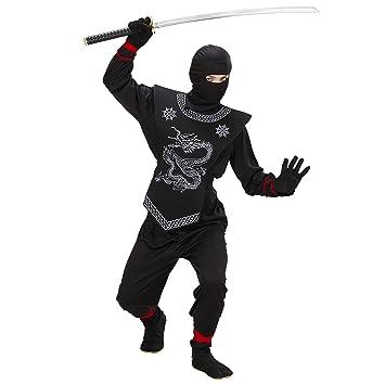 Widmann 74526 Kinder Kostum Ninja Anzug Und Maske Grosse 128