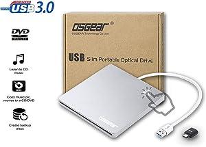 OSGEAR USB 3.0 TYPE C Slim Slot in Loading External 8x DVDRW DVD CD RW ROM Burner Writer Reader Drive for Apple Mac Windows PC Box Laptop Desktop Portable Enclosure Housing Case Support Touch EJECT