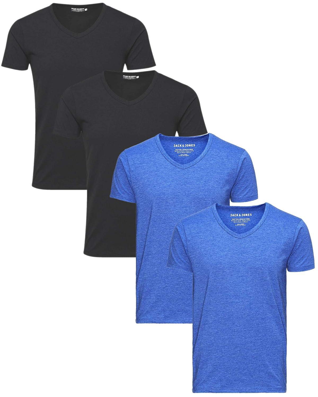 JACK & JONES JONES JONES Herren 4er Pack T-Shirt Basic V-Ausschnitt 12059219 B07MTV8FYQ T-Shirts Fashionista c0d91a