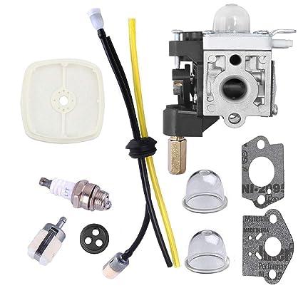 Podoy SRM210 Carburetor for Compatible with Echo Trimmer Parts PE200 Carb  Fuel Line Kit Tune Up Primer Bulb Grommet Weed Eater GT200 SRM 210 PE 200