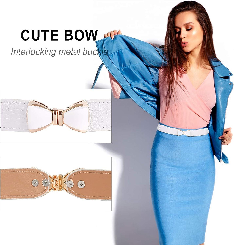 cintura sottile con fiocco elastico per donna SUOSDEY Cintura elastica in vita da donna