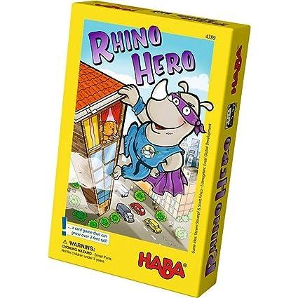 Amazon.com: Haba Rhino Hero, un heroico juego de cartas para ...