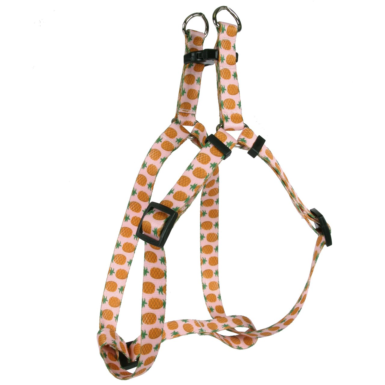Yellow Dog Design Standard Step-In Harness, Pineapples on Pink, Medium 15'' - 25''