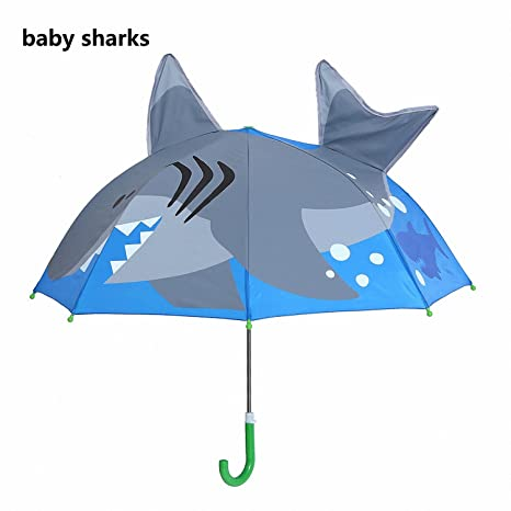 Baolustre Deep-Sea Shark Cartoon Patterns Umbrellas Kids Boys Girls Umbrellla For Children Paraguas Parasol