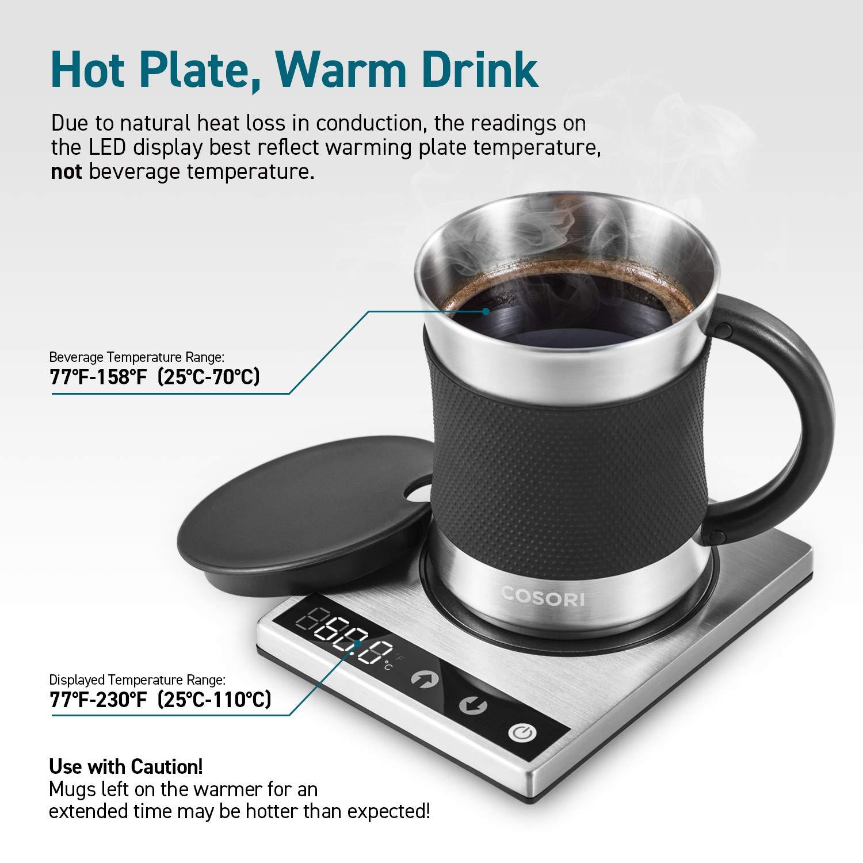 Best Warming Ideas For Cold Office 2019 Amazon.com: Cosori Coffee Mug Warmer & Mug Set Premium 24Watt