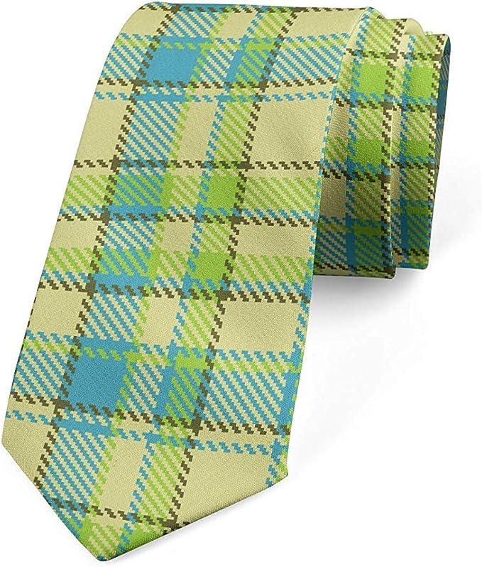 Mathillda Corbata para hombre, colores primaverales verde y azul ...