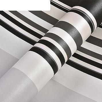 Einfache Moderne Tapeten Schwarz-weiß-vertikale Streifen Tapete ...