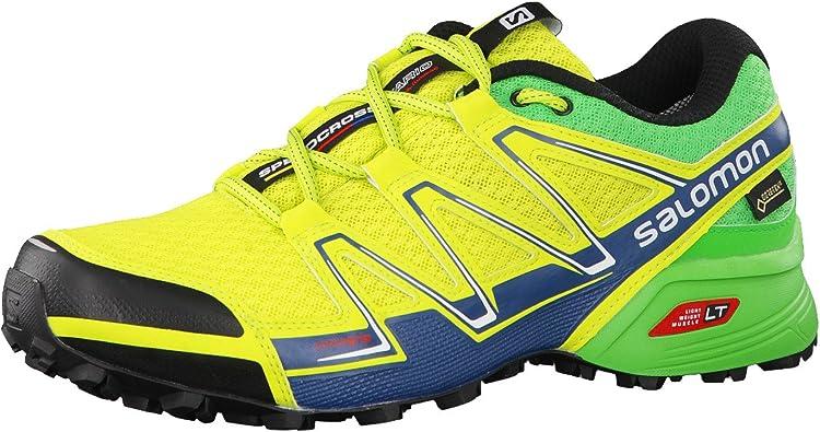 Salomon Speedcross Vario GTX, Zapatillas de Trail Running para Hombre, Verde (Lime Punch./Classic Green/Mallard Blue), 49 1/3 EU: Amazon.es: Zapatos y complementos