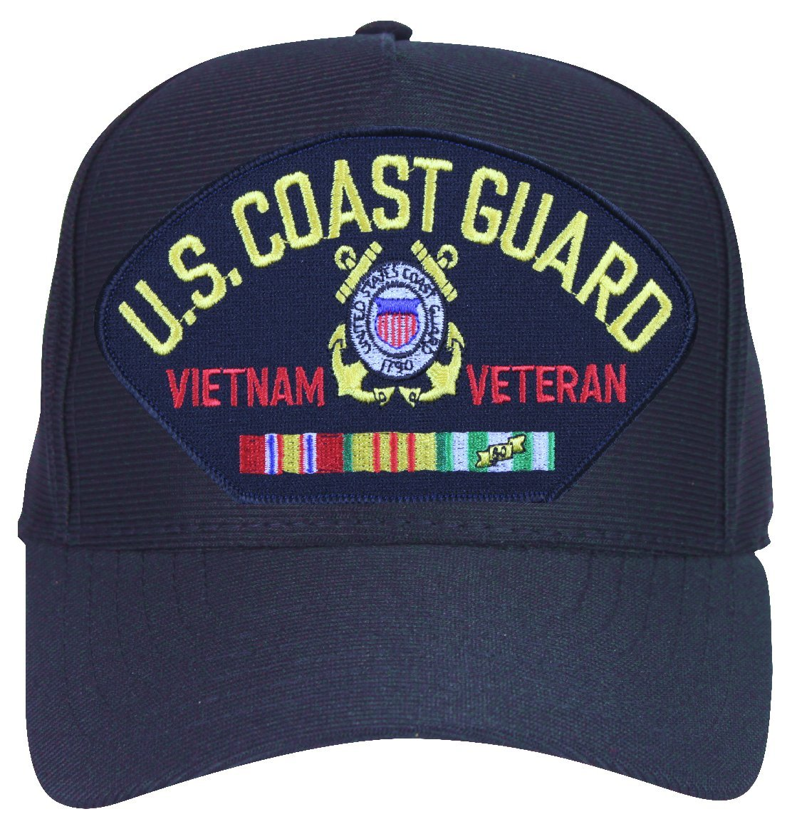 84ae53f3fbe99 Amazon.com  MilitaryBest U.S. Coast Guard Vietnam Veteran Cap with ...