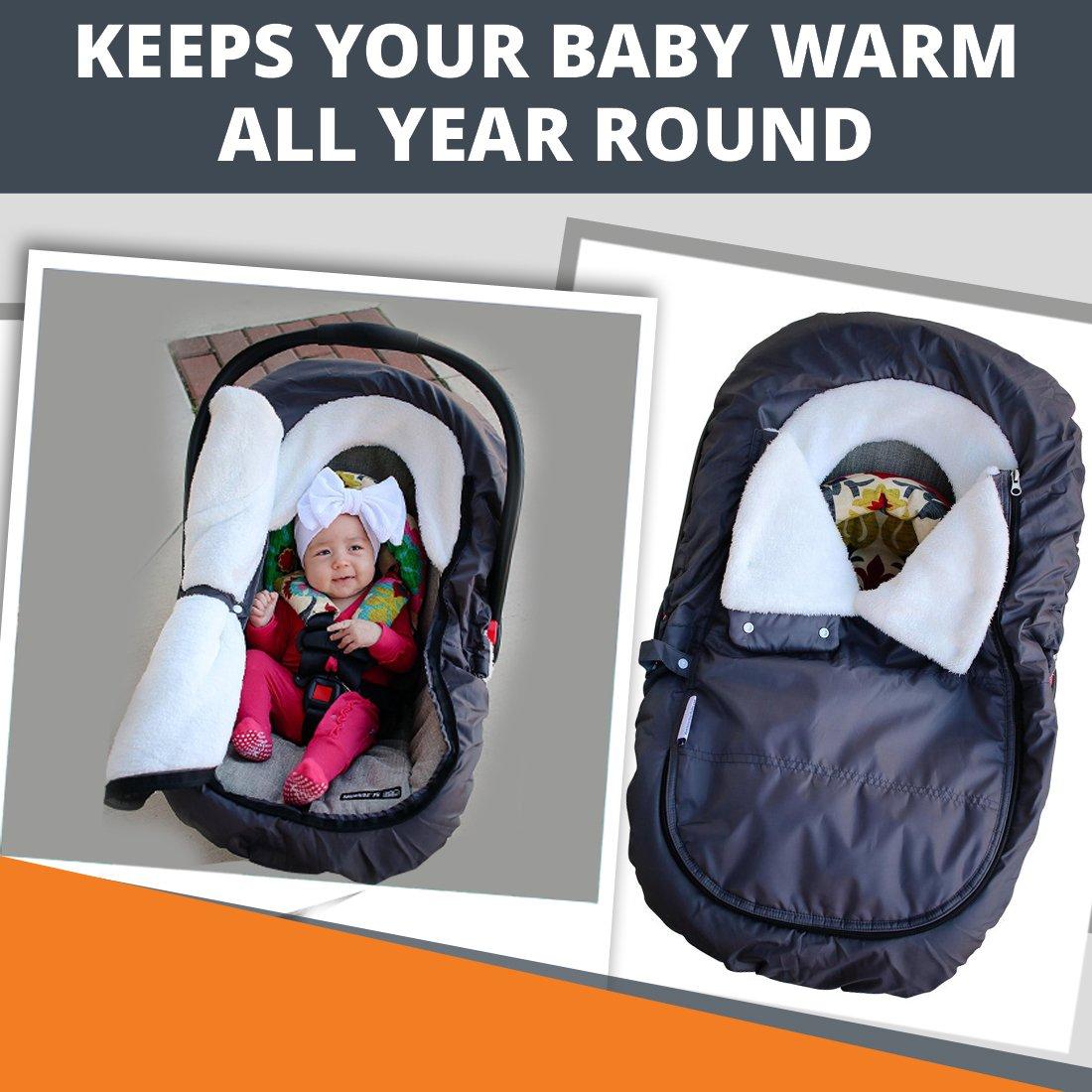 Amazon.com: Infant Baby Car Seat Cover - Weatherproof Sneak ...