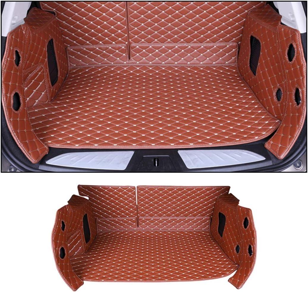に適しています ポルシェ Porsche Cayenne 2011-2017 フルカバレッジ 車の トランクマット カーゴマット ラゲージトレイ マット XPEレザー 内装パーツ フロアマット 防水 耐摩擦 耐汚れセット 褐色