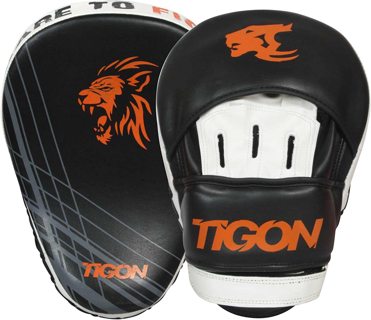 Tigon Sports Curved Focus Pads Mitts Hook and Jab Punch Bag Kick Boxing Muay Thai Arm MMA UFC