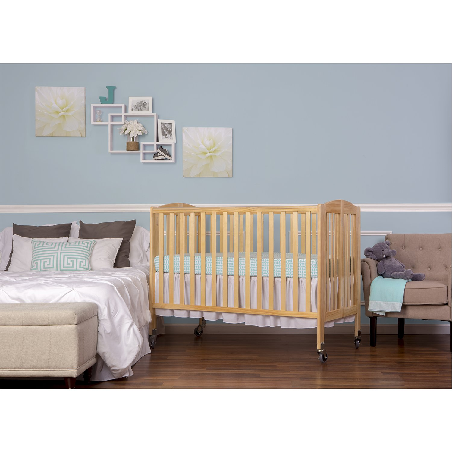 Dream On Me Folding Full Size Convenience Crib, Natural by Dream On Me (Image #1)