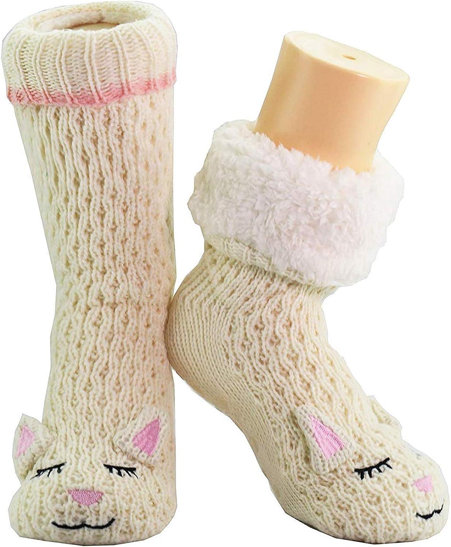 CityComfort Slipper Socks 3D Novit/à Cute Animal Knitted Extra Warm Pantofole Super Soft Winter Wool
