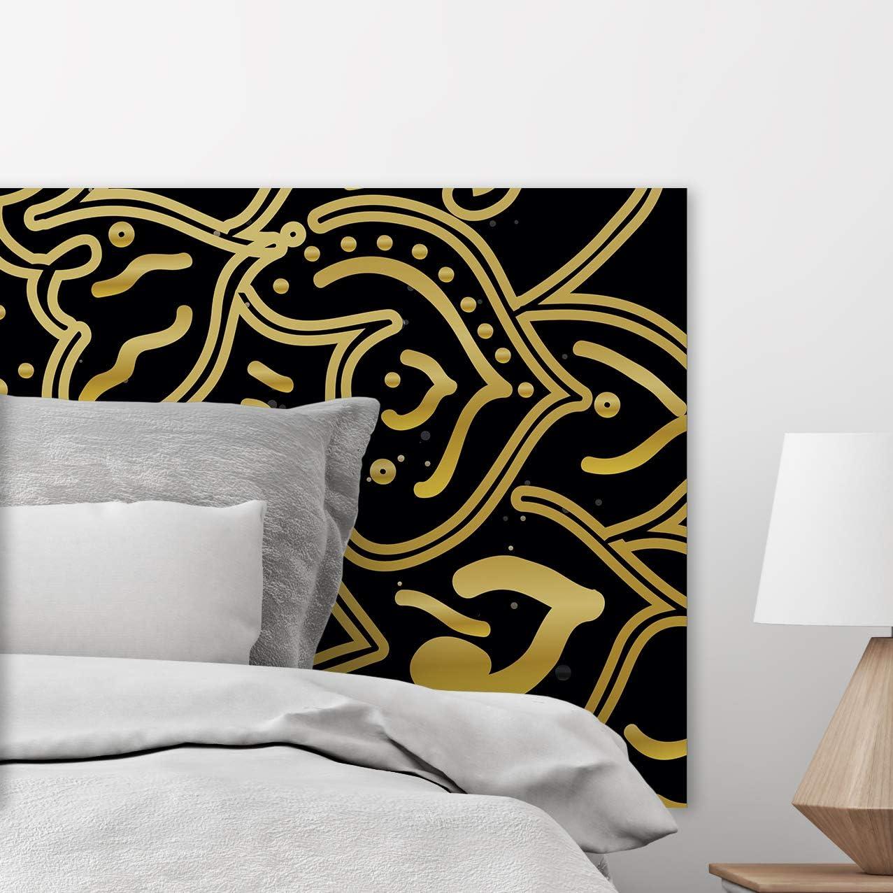 Cabecero Cama Pega Sus Elegante Amarillo 100x60cm Disponible en Varias Medidas Resistente y Econ/ómico Cantos Impresos Color Amarillo Cabecero Ligero Elegante