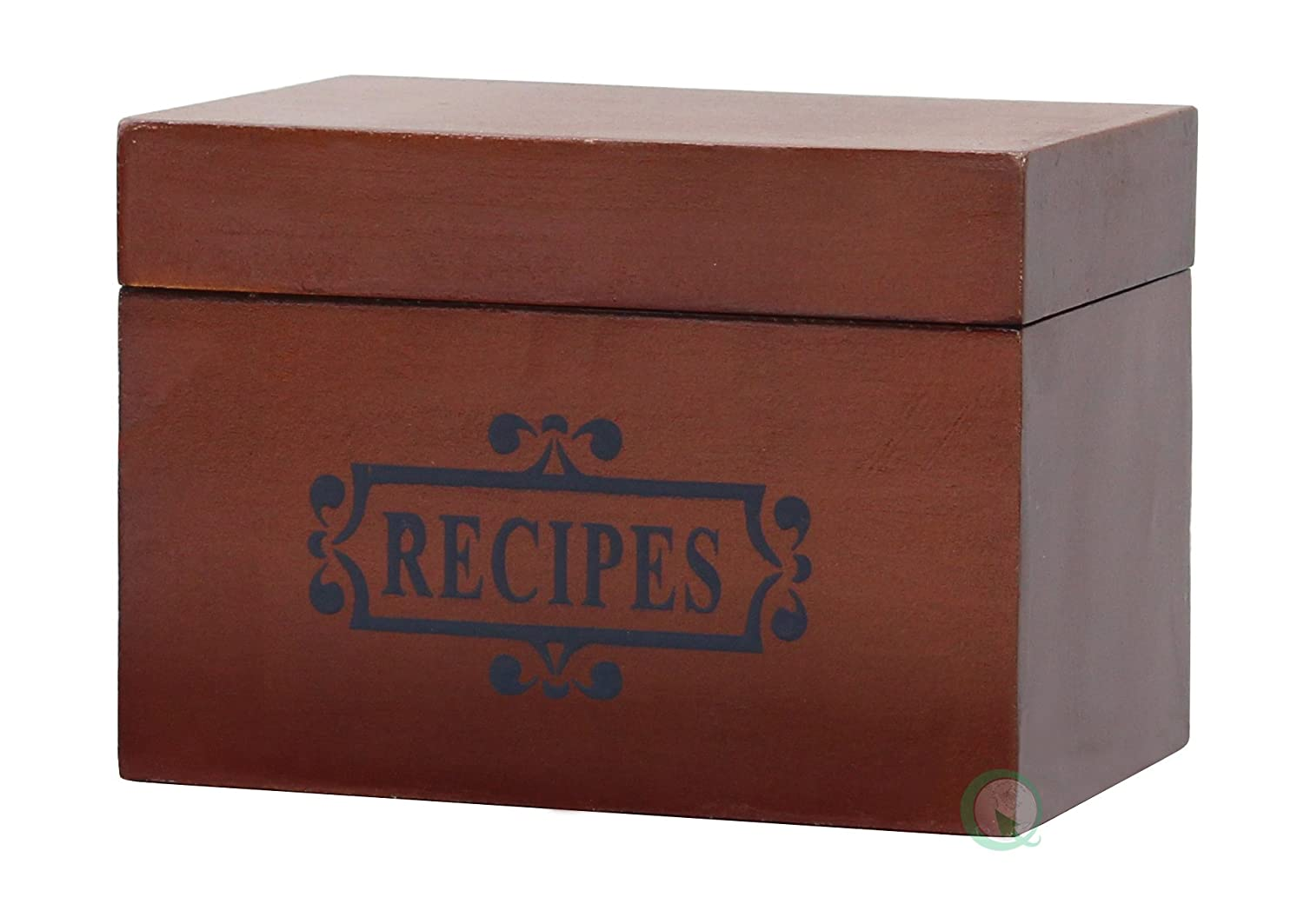 Vintiquewise Wooden Recipe Box Quickway Imports QI003079