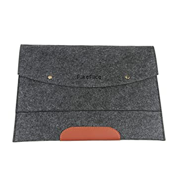 Caso laptotasche fakeface de sentía el bolso ultraligero para cuaderno del ordenador portátil iPad hasta 38.1 cm gris gris oscuro: Amazon.es: Informática