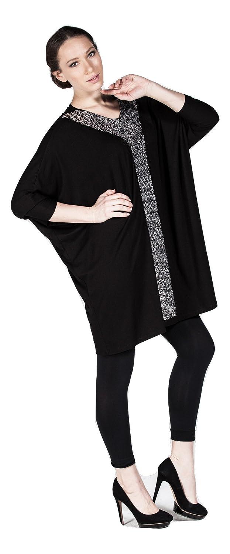 Freizeit Tunika für Damen loose Fit, Bluse lang verziert mit Steinen,  Abendmode/Casual/Business - auch Übergrößen / Plus Size (60-62): Amazon.de:  Bekleidung