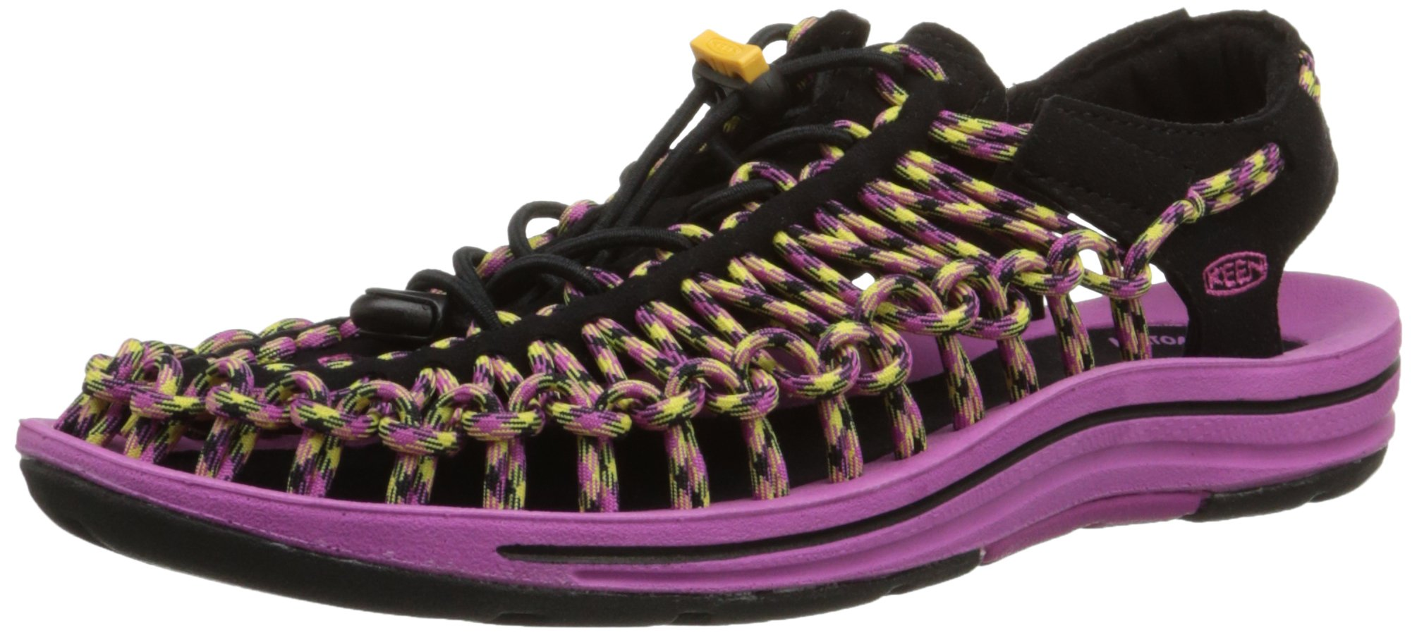 KEEN Women's Uneek Sandal, Dahlia Mauve/Warm Olive, 6 M US