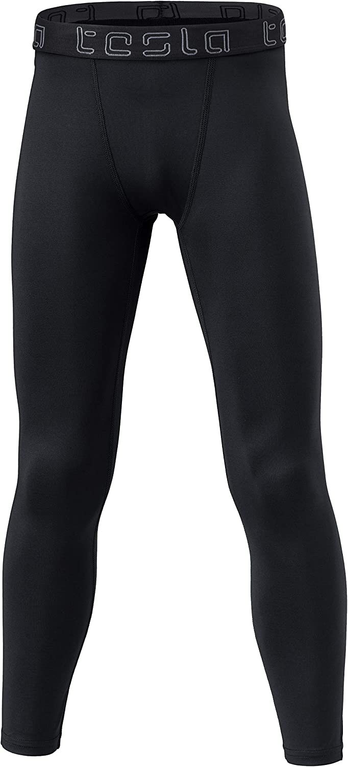 TSLA Boys Youth UPF 50+ Compression Pants Baselayer, Cool Dry Active Running Tights, Sports 4-Way Stretch Workout Leggings : Clothing